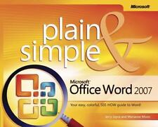 Microsoft  Office Word 2007 Plain & Simple (Plain & Simple Series)