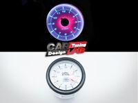 52mm Car Dashboard Clock Analog Truck Gauge Meter White LED - Clear Lens 12 Volt