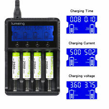 Lumsing Universal 4-Slot Smart Battery Charger for AA AAA NiMH/NiCD/Li-ion 18650