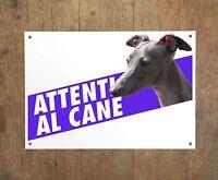 PICCOLO LEVRIERO ITALIANO 1 Attenti al cane Targa cartello metallo Beware dog