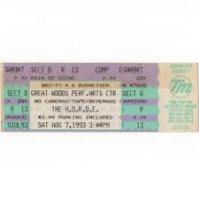 WIDESPREAD PANIC & BLUES TRAVELER Concert Ticket Stub MANSFIELD MA 8/7/93 Rare