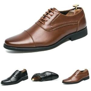 38-48 Mens Low Top Faux Leather Shoes Business Work Office Pointy Toe Wedding L