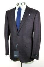 NWT $3495 ERMENEGILDO ZEGNA Dark Red 100% Cashmere 2Btn Coat Jacket 52 Eu 42 R