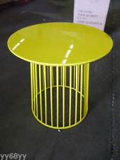 1 x New cage type End table - Yellow 50 x 50 (h) cm
