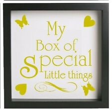 My little box of special little things - 20cm Vinyl Memory Box Frame Decal