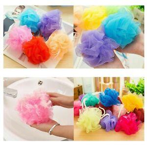 6 x Mesh Bath Sponge Buffer Shower Puff Body Exfoliate Wash Bath Scrunchie Tool