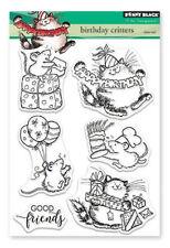 """Clear Stamp """"Birthday Critters"""" Penny Black, Geburtstag, Maus und Katze feiern"""