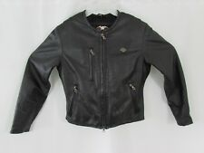 Women's Harley Davidson Black Leather Jacket Size M Pre-Owned Very Nice!