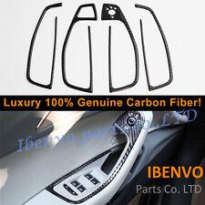 Genuine Door Handle Armrest Console Carbon Fiber Frame Trim For Audi 4G/C7 A6 S6