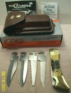 1994~CASE XX CHANGER~NIB~STAG HANDLE 4 BLADE LOCKBACK POCKET KNIFE w/SHEATH +BOX