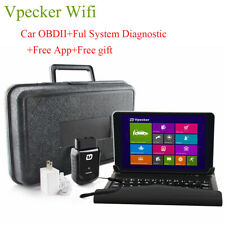 Vpecker Car OBD2 Scanner All System WiFi Code Diagnostic Tool+8 inch tablet