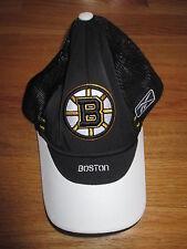 Reebok BOSTON BRUINS Center Ice (One Size) Mesh Cap BLACK w/ WHITE VISOR