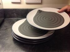 Microwave Plate Warmers - 4 pack - warms plates in the microwave in minutes