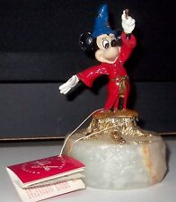 Disney Mickey Sorcerer's Apprentice Ron Lee LE #516/2750 Signed gold plate W/TAG