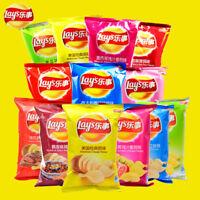 樂事Lay's(乐事薯片 145g/包{多种口味}Potato chips)网红薯条French fries Post-80s nostalgic snacks