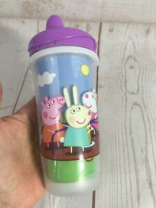 Playtex Peppa Pig Cartoon Spill Proof Sippy Mug Cup Insulated 12M+, 10 oz