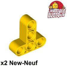 Lego Technic - 2x Liftarm 3x3 T shape thick épais jaune/yellow 60484 NEUF