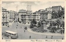 BG34268 genova bus piazza commaseo e monumento e belgrano italy