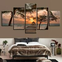 Landscape Seascape Scenery 5 Piece Panel Canvas Wall Hanging Home Decor Art
