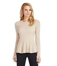 NWT Antonio Melani Taupe 100% Cashmere  Carolina  Sweater  Size L  MSRP $129
