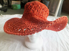 NWT D & Y Orange Wide Brim Hat One Size fits most
