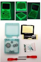 Glow In The Dark Clear Green Shell Housing Case For Game Boy Advance SP GBA SP