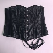 Ladies Strapless Corset / Bustier Faux Leather Swirl - Black - Size XXXL #13A281