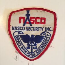 NASCO SECURITY INC. SERVICE WITH PRIDE AND INTEGRITY PATCH
