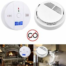 Smoke Alarm LCD CO Carbon Monoxide Detector Poisoning Gas Warning Sensor Monitor