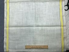 "Vintage Linen Nice Kitchen Toweling Towel Fabric Yellow Woven Stripes 30""L"