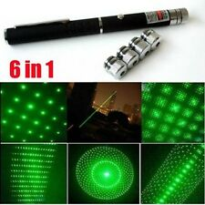 6 In 1 Green Professional Gift 1mW  Lazer Green Laser Pointer Pen UK Stock New