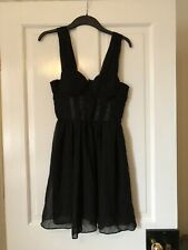 BNWT H&M GOLD LABEL BLACK CORSET TOP DRESS LACE, SIZE 12