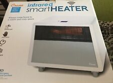 Crane 1500-Watt Digital Infrared Heater with Wi-Fi Phone App - White