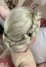 VINTAGE  / ANTIQUE Blonde Wig for BISQUE DOLL