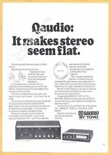 QAUDIO by TOYO - 4-Chanel Sound System. It makes stereo seem flat 1971 Print Ad