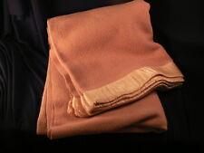 "Antique Dark Rose Pink Wool Blanket 58"" x 79 ESTATE"