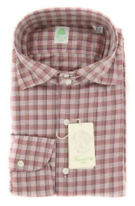 New $375 Finamore Napoli Burgundy Red Shirt - XL/XL - (27SEN84011404)