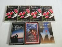 Lot of 7 Piano Cassette Tapes Stardust Starlight Romantic Best of Piano (b3)