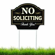 No Soliciting Sign for Home Yard - House Lawn - Great for Businesses - Stop S.