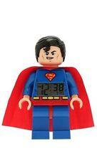 SUPERMAN ALARM CLOCK lego legos NEW minifigure minifig dc super heroes
