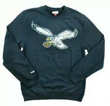 NEW Philadelphia Eagles Mitchell & Ness M&N Throwback Black Sweatshirt Sz S