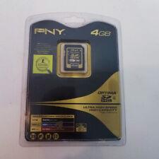 PNY Optima 4 GB SDHC Card - OEM - (P-SDHC4G4-FS) Memory Card NEW