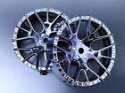 Tetsujin Wheels LYCORIS Inserts Adjustable Offset 3-6-9mm - CHROME BLACK - 4 PC
