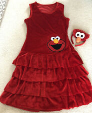 Elmo Sesame Street Fancy Dress Costume With Head Band Size Small