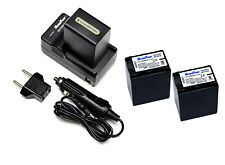 Charger + TWO 2850mAh Camera Battery SONY NP-FH100 Handycam HDR-CX100 BATTERY x2
