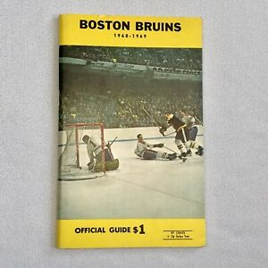 Vintage Boston Bruins 1968-1969 Hockey Official Guide NHL Bobby Orr Ken Hodge