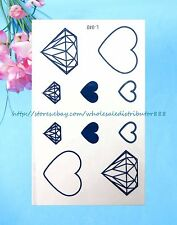 US SELLER - heart diamond temporary tattoos Small Wrist Tattoos for Women