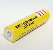 18650 5000mAh 3.7V Li- ion BATTERIA battery RICARICABILE per TORCIA FLASHLIGHT