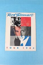 VINTAGE 1984 ROD STEWART CONCERT TOUR PROGRAM W/ ORIGINAL TICKET STUB