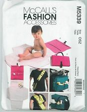 Baby Infant Diaper Bags & Changing Pad Kit McCall's Pattern M5339 Uncut